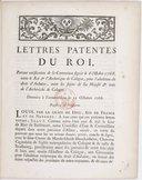 Lettres patentes... portant ratification de la Convention [ci-incluse] signée le 6 octobre 1768, entre le Roi et l'archevêque de Cologne, pour l'abolition du droit d'aubaine... Registrées en Parlement [le 14 avril 1769]