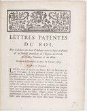 Lettres patentes... pour l'abolition du droit d'aubaine entre les sujets de France et la noblesse immédiate de l'Empire des cercles de Suabe, Franconie et du Rhin... Registrées en Parlement [le 14 avril 1769]