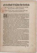"""Historia trochoidis, sive cycloïdis, gallice : """"la roulette"""" , in qua narratur quibus gradibus ad intimam illius lineae naturam cognoscendam perventum sit"""