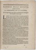 Histoire de la roulette, appellée autrement la trochoïde, ou la cycloïde, où l'on rapporte par quels degrez on est arrivé à la connoissance de la nature de cette ligne. [Par B. Pascal, daté du 10 octobre 1658.]