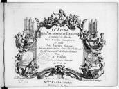 VIe. Livre des Amusemens du Parnasse contenant la marche des gardes françoises et celle des gardes suisses, avec des ariettes choisies accommodées pour le clavecin...