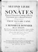 Second livre de sonates pour le violon et pour la flute traversière avec la basse continue.... Gravées par Melle Louise Roussel...