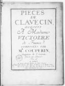 Pièces de clavecin.... Gravées par Labassée