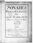 Sonates pour le clavecin... Opera IV