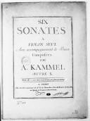 Six Sonates à violon seul avec accompagnement de basse... Oeuvre X