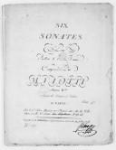 Six Sonates pour violon et basse... Oeuvre IVe, 1er livre de sonates de violon