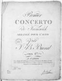 Premier concerto..., arrangé pour l'alto par J. B. Bréval..., [en ré]
