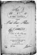 Six Duo d'airs connus variés pour deux flûtes... 5e livre de duo d'airs variés