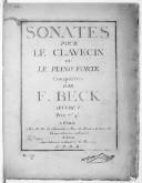 Sonates pour le clavecin ou le piano-forte... Oeuvre V...