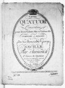 Trois Quatuors concertans pour deux violons, alto et violoncelle par Jarnovick. 1er livre de quatuor...