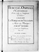 Hercule et Omphale, 1re cantatille à voix seule et simphonie.... Gravée par Joseph Renou