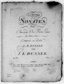 Trois sonates pour clavecin ou forte-piano avec violon et basse... op. XXI