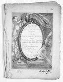 Recueil contenant différens petits airs variés, une sonate et un petit duo pour deux harpes... Oeuvre X.. Gravé par Melle Fleury