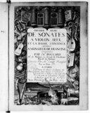 Premier livre de sonates a violon seul et la basse continüe dédiées a Monsieur de Francine. Composées par Mr. Bouvard... gravées par Mlle Louise Roussel
