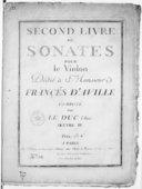Second livre de sonates pour le violon... Oeuvre IV