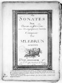 Six Sonates pour clavecin ou forte piano avec accompagnement d'un violon... Oeuvre II
