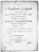 [8e] simphonie... [dite la Poule] arrangée pour le clavecin ou le forte piano, avec accompagnement de violon et basse par M. Charpentier,.... [Hob I, 83]