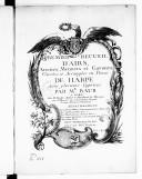 Premier Recueil d'airs, ariettes, menuets et gavottes variées et arrangées en pièces de harpe avec plusieurs caprices.... Gravé par Mme Vendôme...
