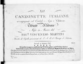 XII Canzonette italiane accompagnate col cembalo o arpa o chitarra...