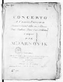 Concerto a violon principal, premier, second, alto et basse, deux hautbois, deux cors ad libitum... [1er en la]
