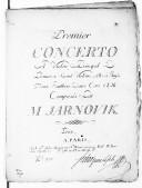 Premier concerto a violon principal, premier et second, alto et basse, deux hautbois, deux cors ad li... [1er en la]