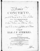 Premier Concerto pour le clavecin ou le forte piano avec accompagnement de deux violons, alto, basse, deux cors et hautbois ad libitum... Oeuvre 18e