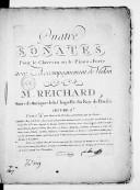 Quatre Sonates pour le clavecin ou le piano forte avec accompagnement de violon... Oeuvre 2e...