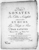 Deux Sonates..., arrangées an duos pour harpe et piano par Gatayes. Oeuvre VII