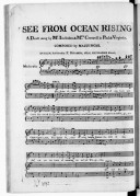 See from ocean rising, a duett, sung by M. Incledon & Mrs Creswell. Paul & Virginie...