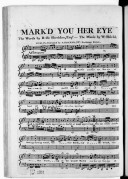 Mark'd you her eye, the words by R. B. Sheridan...