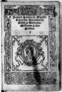 Joannis Animuciae Magistri Cappellae Sacrosanctae Basilicae Vaticanae. Missarum Liber Primus