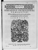 IOHANNIS PETRALOYSII // PRAENESTINI // Mottetorum quae partim quinis, partim senis, // partim septenis vocibus concinantur. // LIBER PRIMVS // [Vignette] // VENETIIS // Apud Haeredem Hieronymi Scoti // MDLXXXVI //