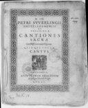 Cantiones sacrae cum basso continuo ad organum quinque vocum...