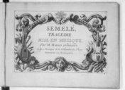 Semelé, tragédie mise en musique par M. Marais