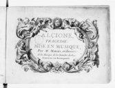 Alcione, , tragédie mise en musique par Mr Marais