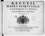 Airs à quatre parties, avec la basse-continue, et quelques-uns à trois en forme de motets à la fin du livre, sur la paraphrase de quelques pseaumes et cantiques de messire Anthoine Godeau, ... composez par Henry Du Mont, ...
