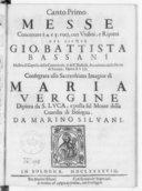 Messe concertate à 4. e 5. voci, con violini e ripieni del Signor Gio. Battista Bassani,... Opera XVIII...