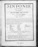 Sinfonie à piu stromenti composte da vari autori n° [3] del sig. [Fränzel].... Gravées par Mme Leclair. Ces simphonies se vendent séparément ou ensemble selon la volonté des amateurs...