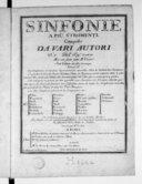 """Sinfonie a più stromenti composte da vari autori. N° """"11"""" del sigr. """"Canabich"""". Mis au jour par M. Venier. Ces simphonies se vendent séparément ou ensemble.... Gravées par Mme Le Clair"""