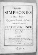 Trois simphonies à huit parties qui peuvent s'exécuter à quatre... Oeuvre V