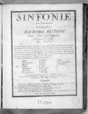 Sinfonie a piu stromenti composte da vari autori n° [9].... Gravées par Mme Leclair...