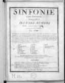 Sinfonie a piu stromenti composte da vari autori.... Mis au jour par M. Venier.... Gravées par Mme Leclair