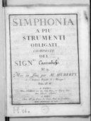 "Simphonia a piu strumenti obligati, composte del sigr. ""Cannabich"". N° 9. Mise au jour par Mr Huberty..."