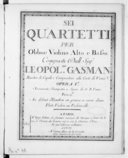 Sei quartetti per obboe, violino, alto e basso... Opera Ia. Novamente stampata a spese di G. B. Venier. Au défaut d'hautbois on pourra se servir d'une flûte, violon ou violoncelle