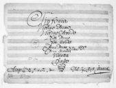 Sinfonia // Violino Primo // Violino Secondo // Oboe Primo // Oboe Secondo // Cornu Primo // Cornu Secondo // Toni D. // Violetta // e // Basso // Del Sig. Christ. Canabich
