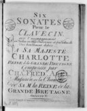 Six sonates pour le clavecin avec l'accompagnement d'un violon ou flute traversière et d'un violoncelle... Oeuvre V