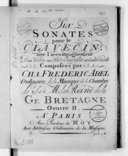 Six sonates pour le clavecin avec l'accompagnement d'un violon ou flute traversière et d'un violoncelle... Oeuvre II