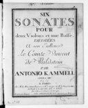 Six Sonates pour deux violons et une basse... opera IIIa