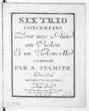 Six Trios concertans pour une flûte, un violon et un violoncelle... Oeuvre 1er de trio de flûte