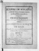 IIe Livre de sonates à deux violons sans basse ou deux flûtes traversières... Oeuvre Ve. Gravé par Melle de Caix